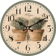 WONZOM Vintage FlowerNon-Ticking Wooden Cardboard Wall Clock for Home Kitchen Office,Silent Sweep Wall Clock for Decorative original xiaomi mijia mute movement round wooden wall clock non ticking simple style home kitchen office decoracion wall clock