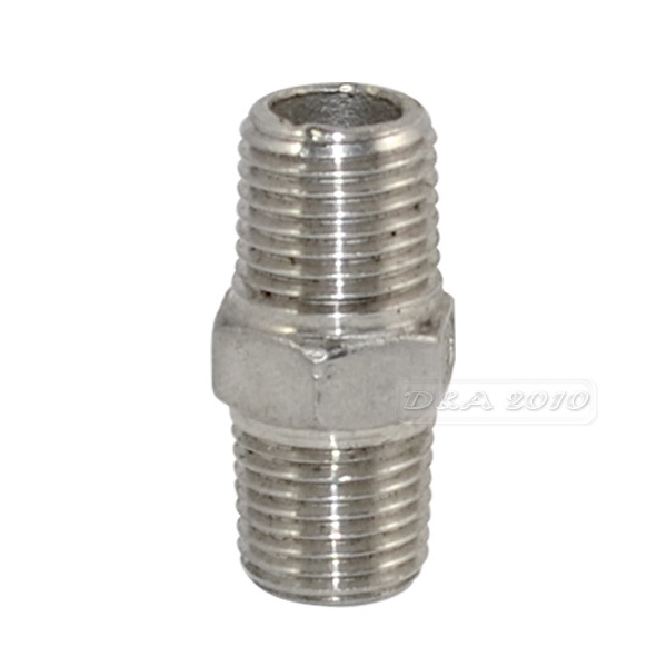 Quot male hex nipple stainless steel ss