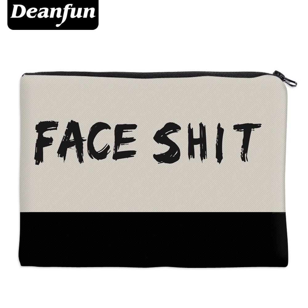 Deanfun Cosmetic Bags 3D Printed Simple Letter Necessaries For Organizer Women Makeup 85003