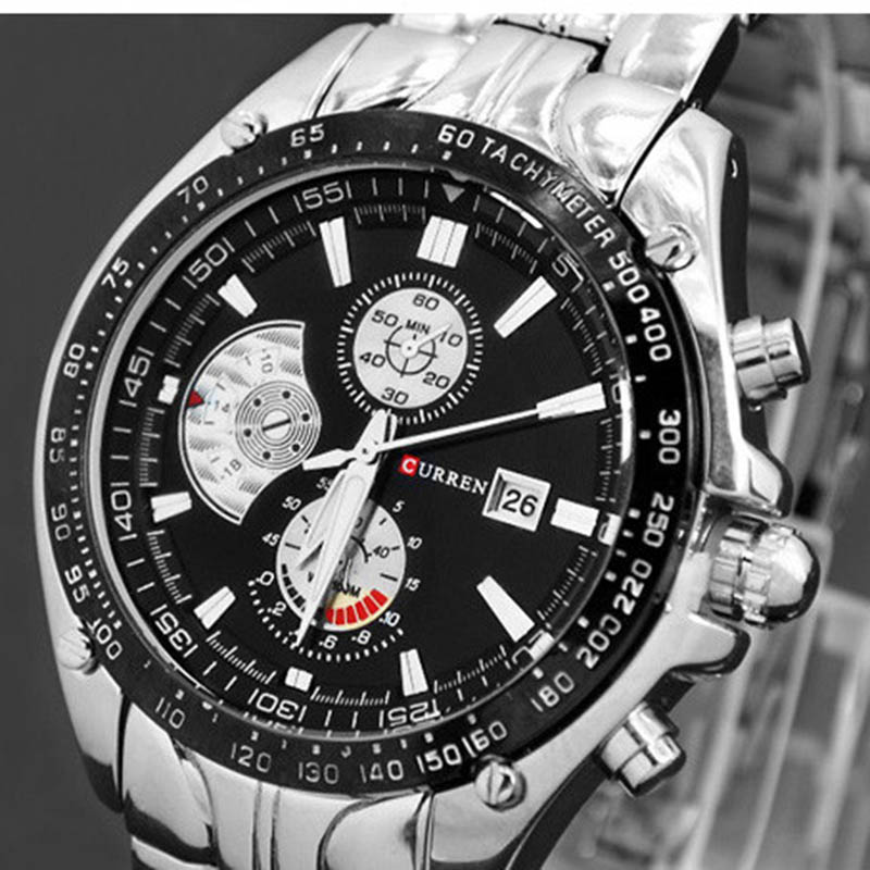 CURREN Fashion Men Watches Stainless Steel Luxury Brand Military Watch Men Wristwatches Sport waterproof relogio masculino weide popular brand new fashion digital led watch men waterproof sport watches man white dial stainless steel relogio masculino