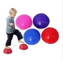 Половинный мяч для йоги, фитнеса, физический аппарат, Балансирующий точечный мяч, упражнение, шаговые камни, стручки, баланс, bosu Yoga Pilat