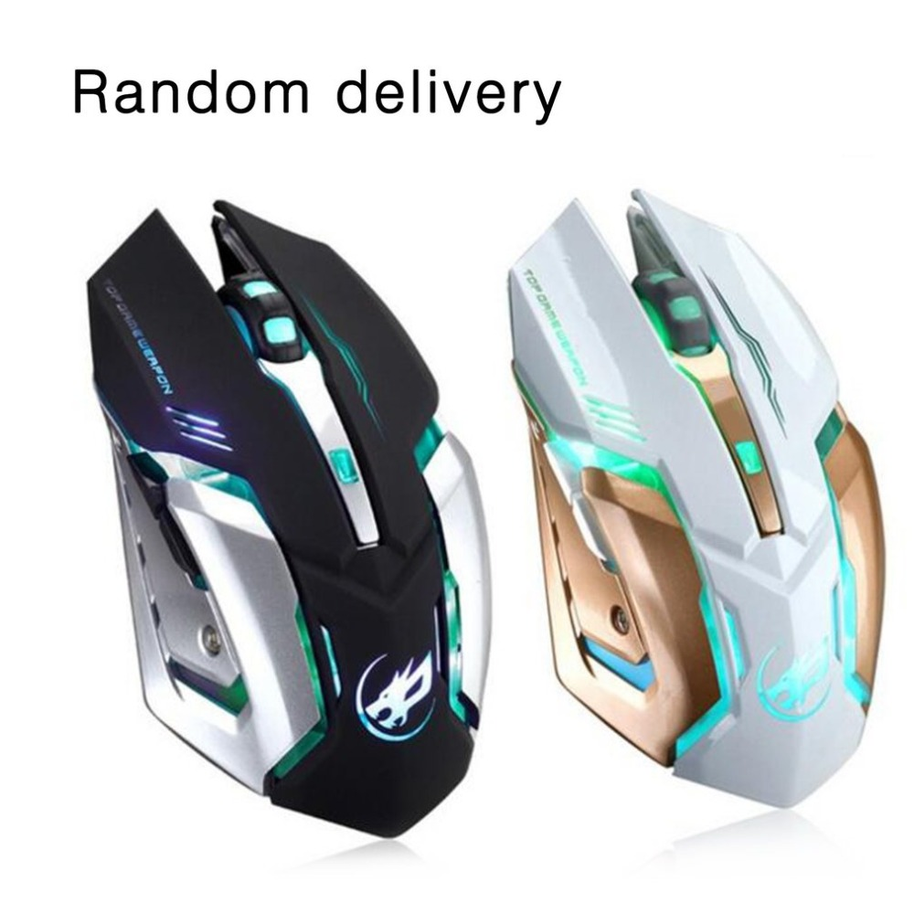 Rechargeable Wire Silent LED Backlit USB Optical Ergonomic Gaming Mouse Six Key Computer USB Game Mouse For Laptop PC