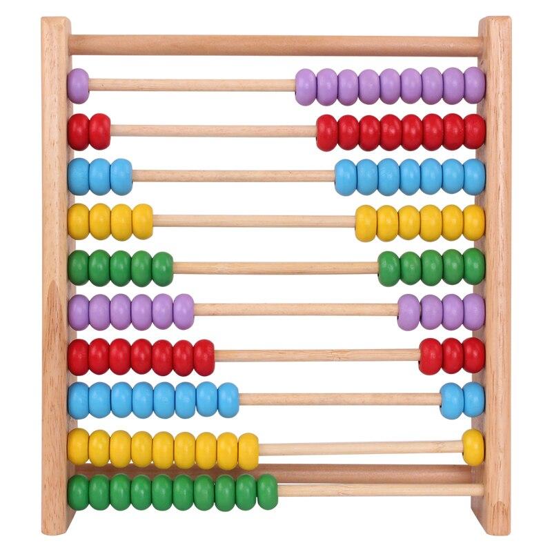 Новый красочный 10 ряда бисера деревянные счеты для детей educationnal рассчитать обучения математике учебного пособия Малыш Детские игрушки для ...