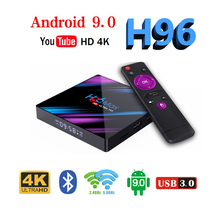 H96 MAX RK3318 4K Smart TV Box Android 9.0 Android TV BOX 4GB RAM 64GB ROM Google Voice Assistant Play Store Netflix Youtube цена и фото