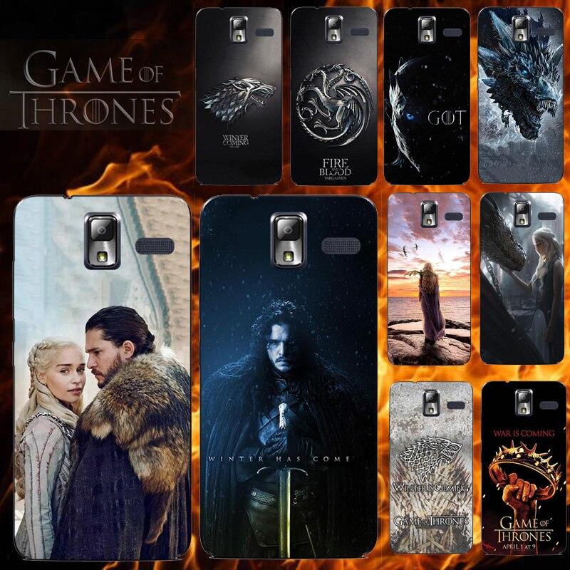 Phone Case for Lenovo S580 S 580 Soft TPU Silicone Cover for Lenovo S580 for Game Of Thrones Seasons 8 Daenerys Dragon Jon Snow