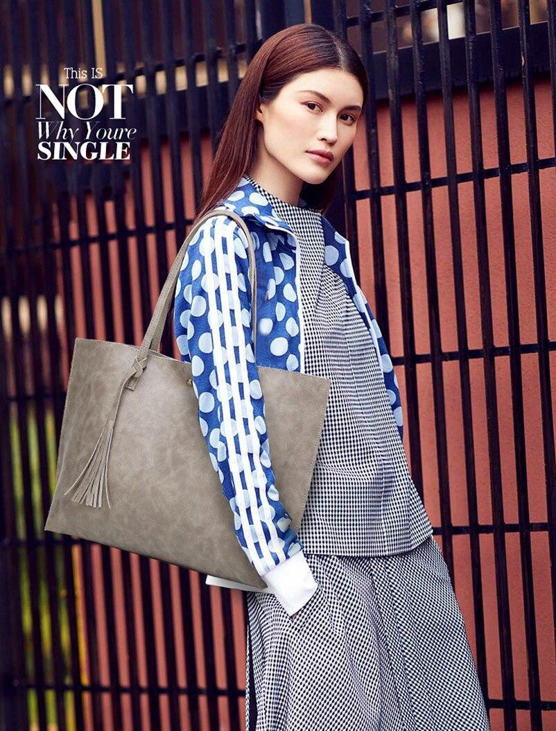 Nevenka Leather Handbag Women Casual Totes Female Shopper Ladies Shopping Bags Large Capacity Bags Vintage Bag for Women 201806