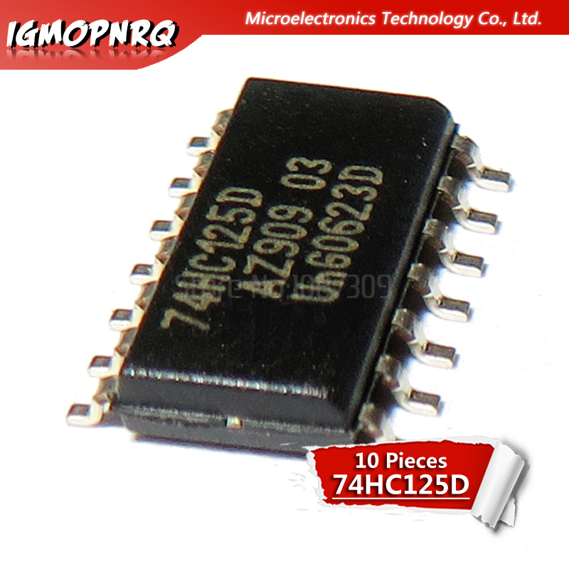 10PCS 74HC125D <font><b>74HC125</b></font> SN74HC125D SOP-14 Buffers & Line Drivers QUAD 3-ATE BUS BUF new original image