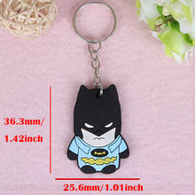 SUTI Avengers Keychain Captain America Spider Man Batman Key Ring Japanese anime Holder Chaveiro Key Chain Bag Pendant Jewelry