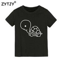 Детская футболка с принтом черепахи футболка для мальчиков и девочек, детская одежда для малышей Забавные футболки Прямая поставка Y-58