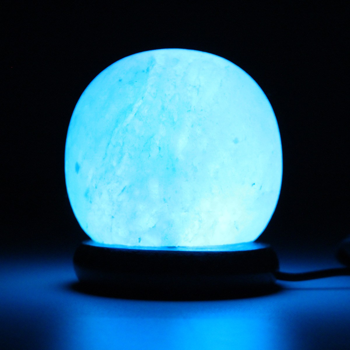 Luzes da Noite sal de cristal luz colorida Material do Corpo : Cristal