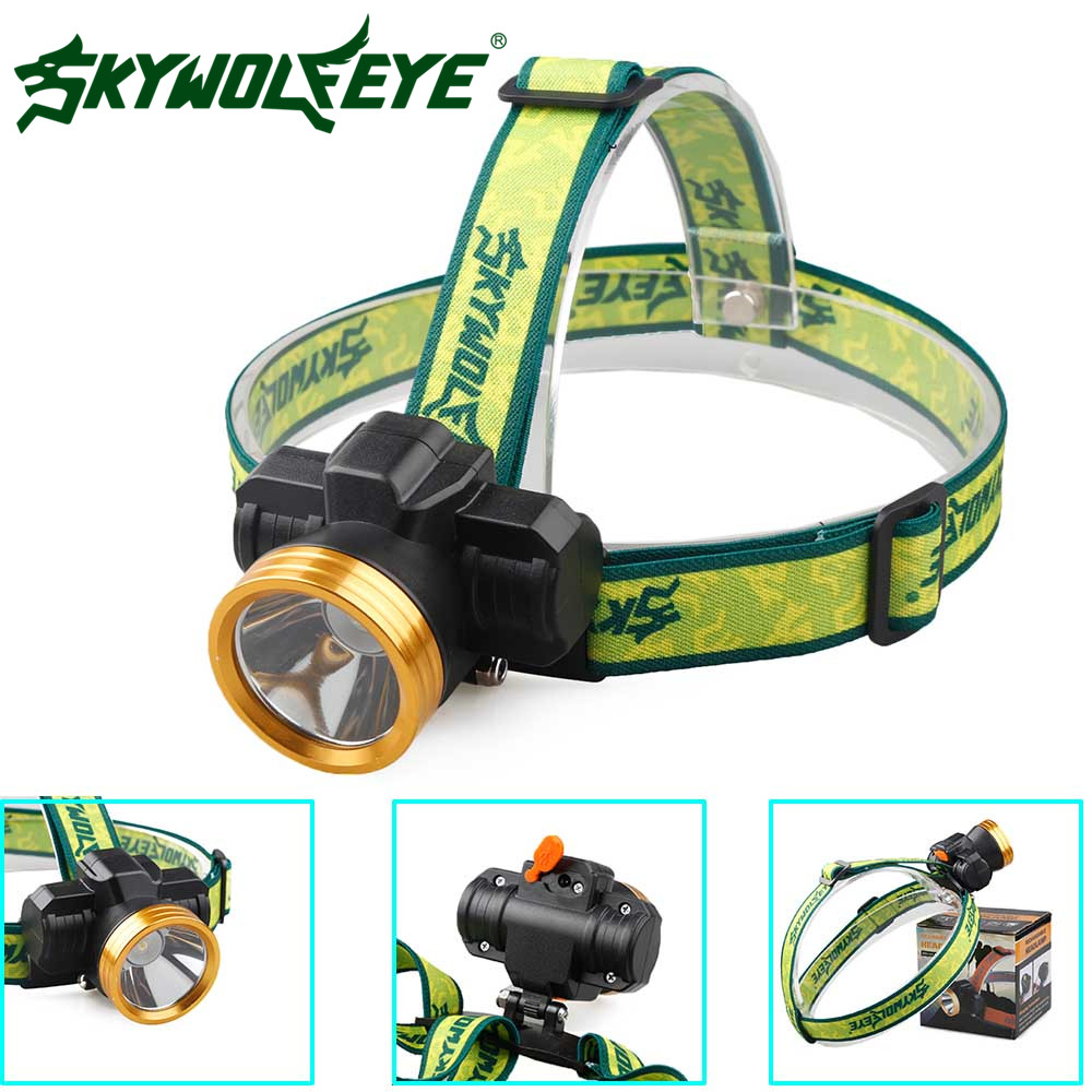 SKYWOLFEYE LED Headlight Adjustable 3 Modes Headlamp Waterproof Rechargeable Internal Battery Faro Outdoor Aluminium Head Lamp