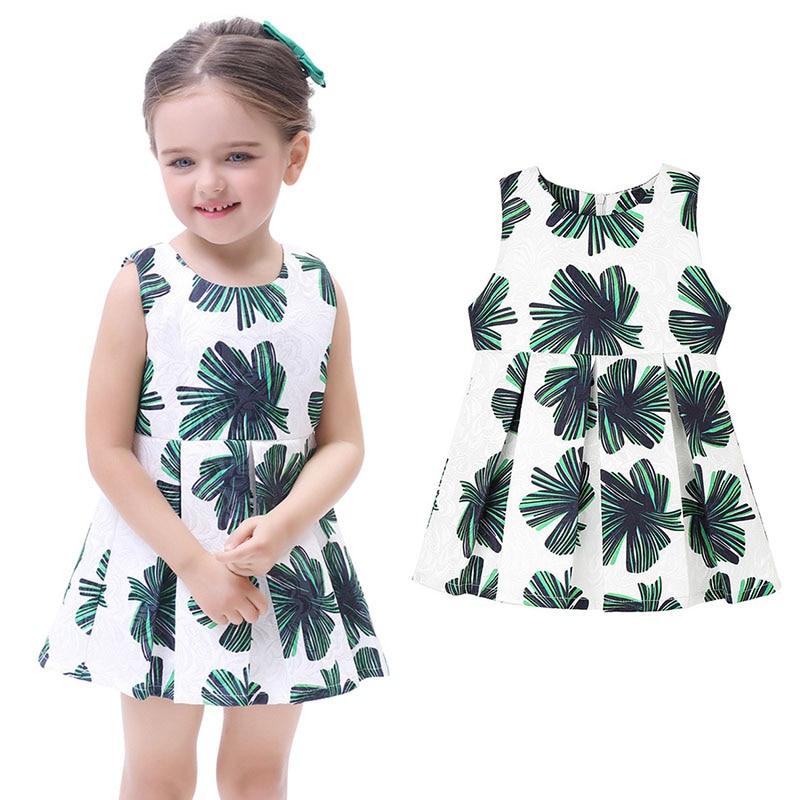 7517bc23b7f Υψηλής ποιότητας καλοκαιρινό φόρεμα κορίτσι Casual Πράσινο Floral ...