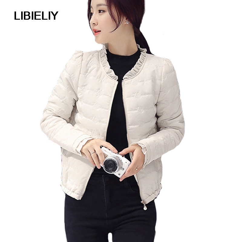 Nice Fashion Winter Women Short Coat Spring Solid Black Cotton Padded   Basic     Jacket   Female Slim Overcoat Girls Ladies Chaqueta