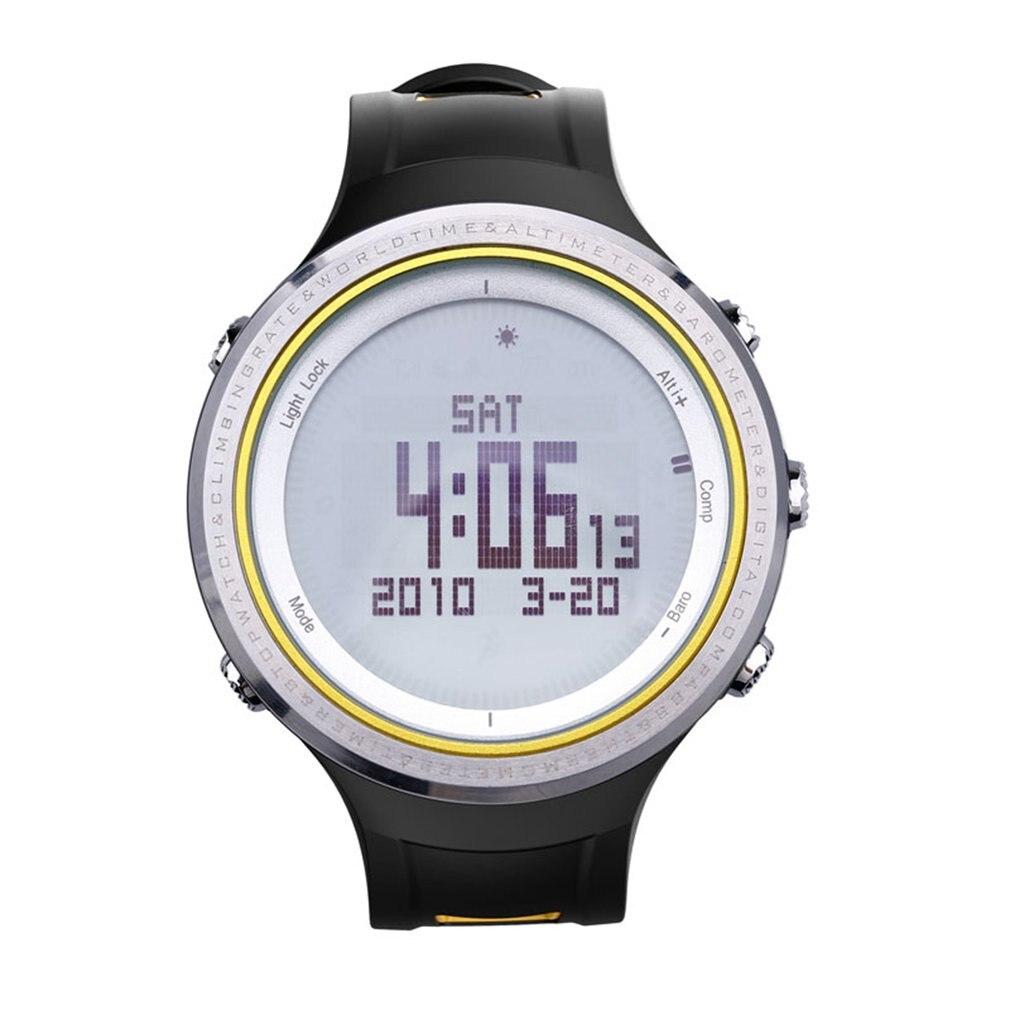 SUNROAD multifonctionnel étanche rétro-éclairé mâle décontracté Sport montre météo Forcast podomètre chronomètre extérieur montre numérique