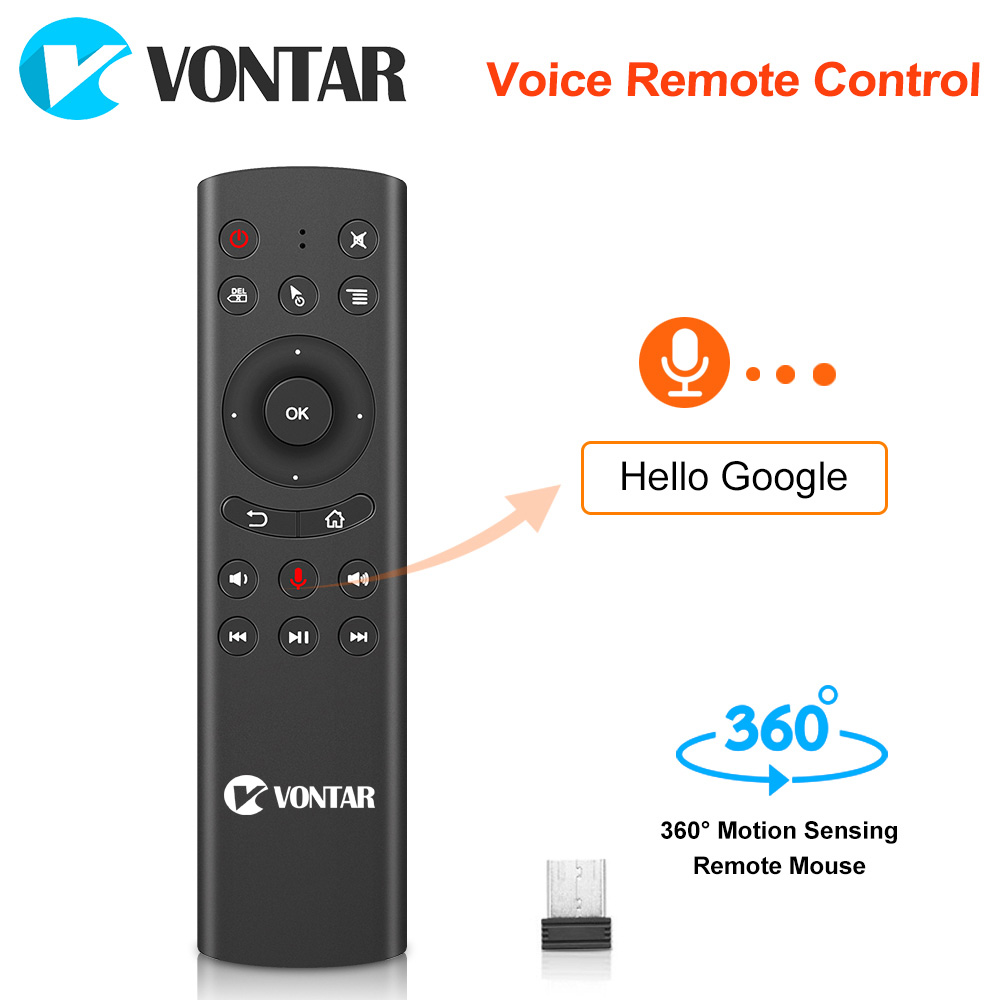 Voz Controle Remoto Sem Fio 2.4G Mini Air Mouse Kyeboard com Microfone IR Aprendizagem para Caixa de TV Android 8.1 T9 h96 MAX x96mini