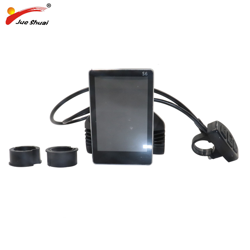 цена на New Hot 36V 48V LCD Electric Bike Display on the Handlebar Waterproof Connector Control Panel Cycling Parts Accessory Battery ce