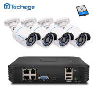 4CH POE NVR 1080P HDMI Output 4PCS 1 0 MP IR Weatherproof 720p IP Camera Poe