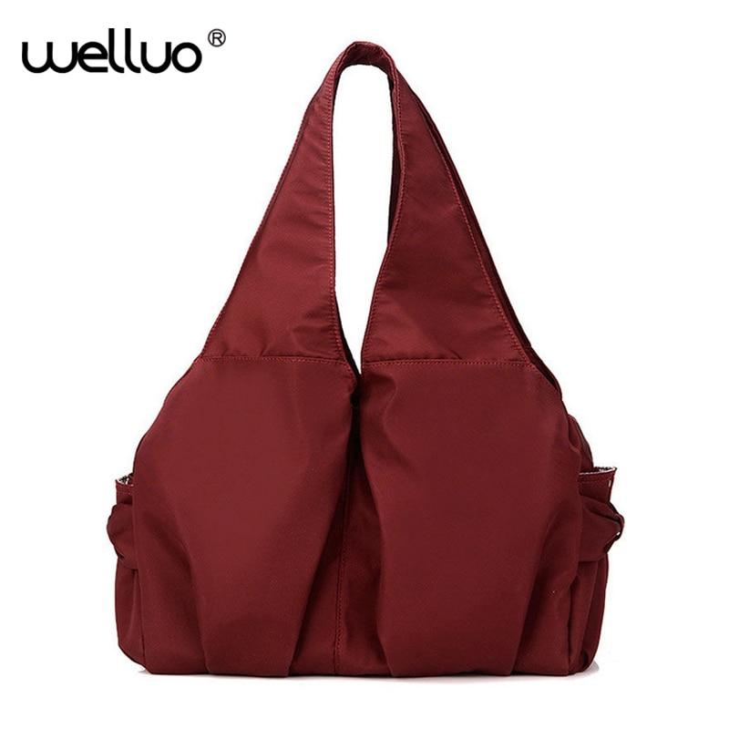 Hot Designer Nylon Handbags Famous Brand High Quality Women Tote Mommy Shopping Bag Candy Color Shoulder Bag Bolsos Mujer XA434B