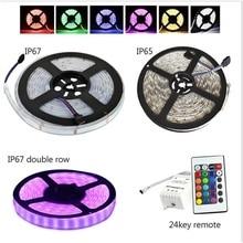 Waterproof LED Strip 5050 5630 3528 smd 12V flexible light 60 leds/m warm white red greed blue yellow rgb tape ribbon tiras luz