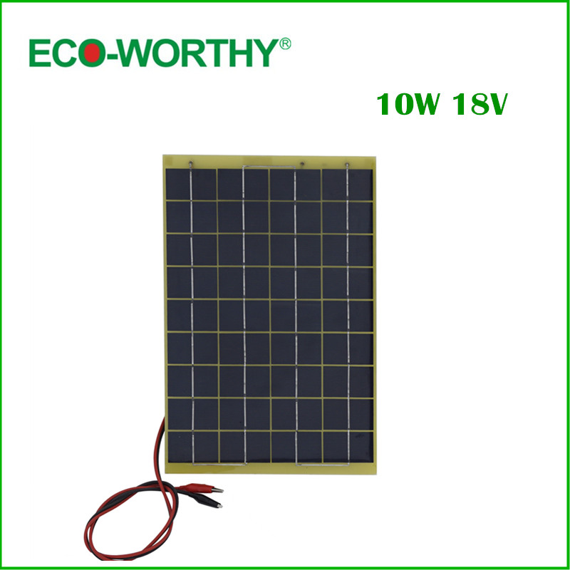 10 W Epoxy-resin Solar Panel 10w Poly Solar Panel 12v with Diode for Charge 12v Battery 100w folding solar panel solar battery charger for car boat caravan golf cart