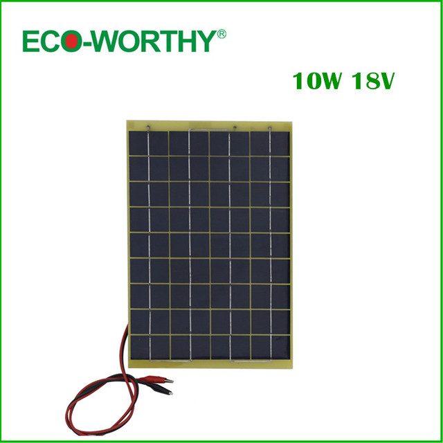 10 W Epoxy-resin Solar Panel 10w Poly Solar Panel 12v with Diode for Charge 12v Battery