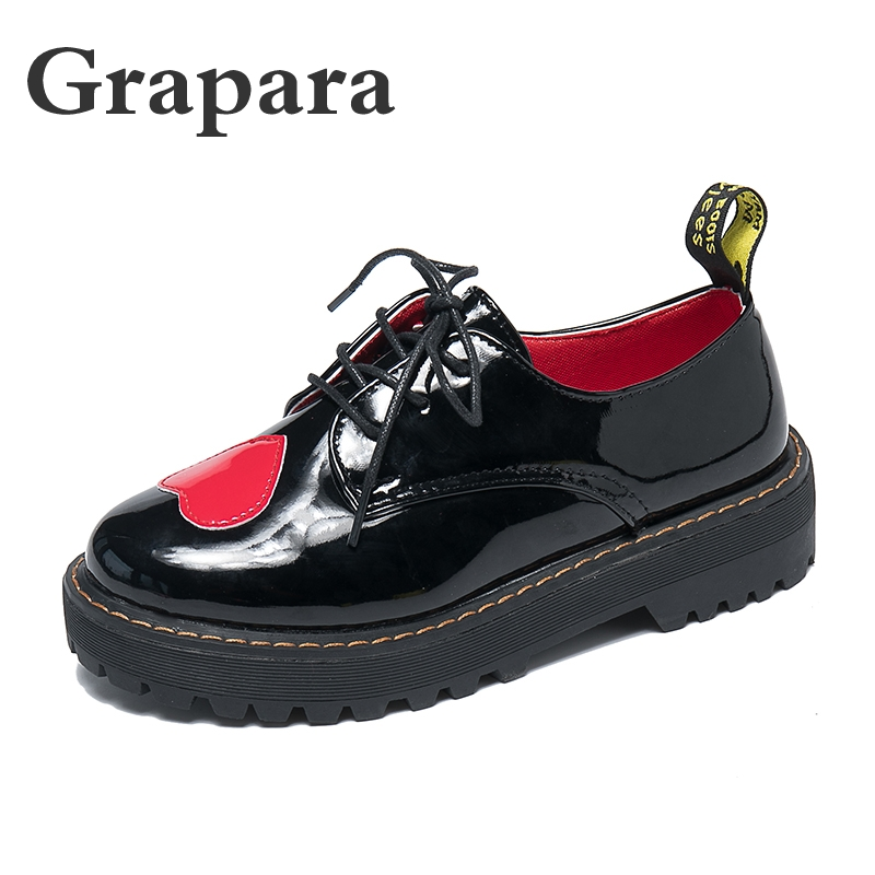 Zapatos Planos Mujer Fall Flats Women Shoes Lace-Up Casual Brogue Shoes Creepers Platform Shoes Female Oxford Shoes Grapara 2017 women classic all lace up canvas shoes female casual shoes flats espadrilles zapatos mujer chaussure homme star shoe