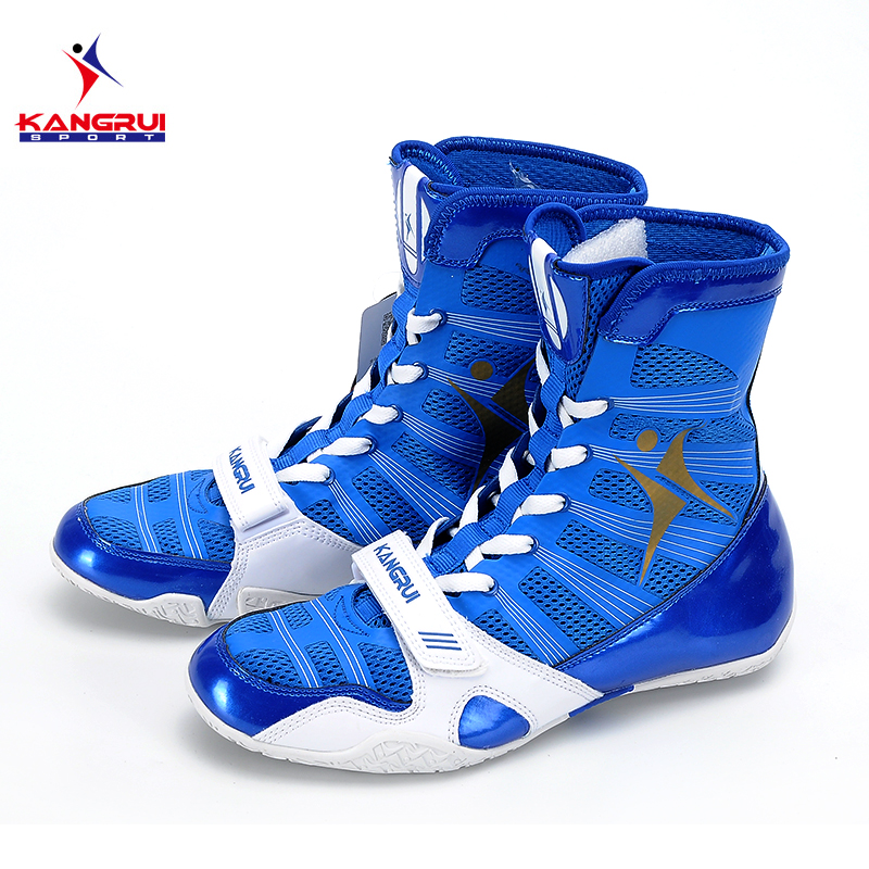 2017 New 3 colors professional boxing shoes Authentic wrestling shoes for men training shoes tendon at the end leather sneakers wrestling shoes