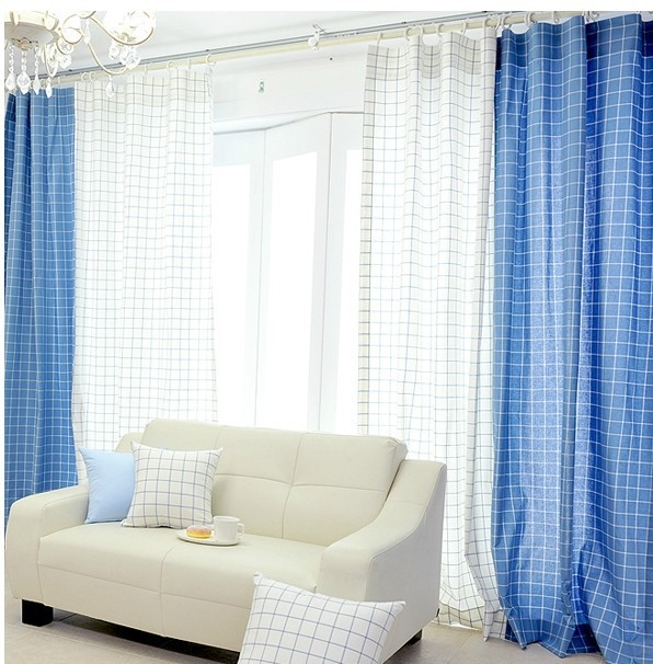 Good Latest Curtain Designs Blue And White Printed Fabric Windows For Curtain  Screening Room Divider Curtain Panel