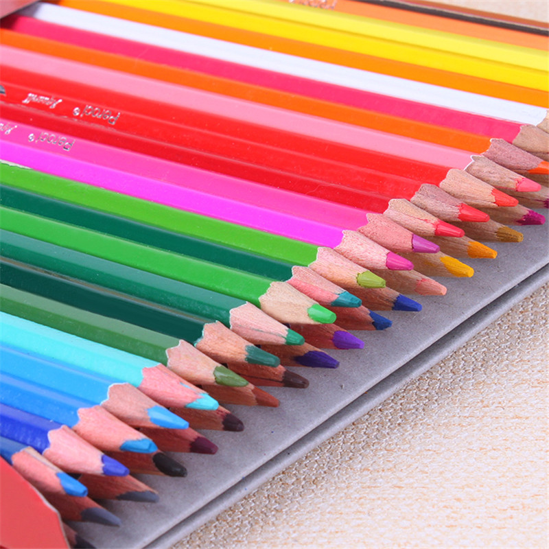 48 Colored Pencils For Kids Stationery Art Supplies Lapices de Colors Water-soluble/Oily Drawing Painting Pencils No-toxic