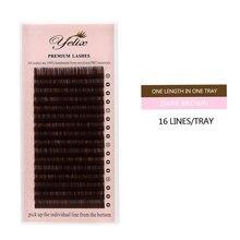 Yelix Dark Brown Lashes Mink False Eyelashes Extension Individual Natural Eyelash Maquiagem Mix Length Lash 10-13 And 7-15 mm