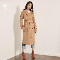 Fansilanen Новое поступление 2017 года мода осень/зима Винтаж работы Краткая длинное шерстяное кашемировое пальто шерстяные Для женщин женские па
