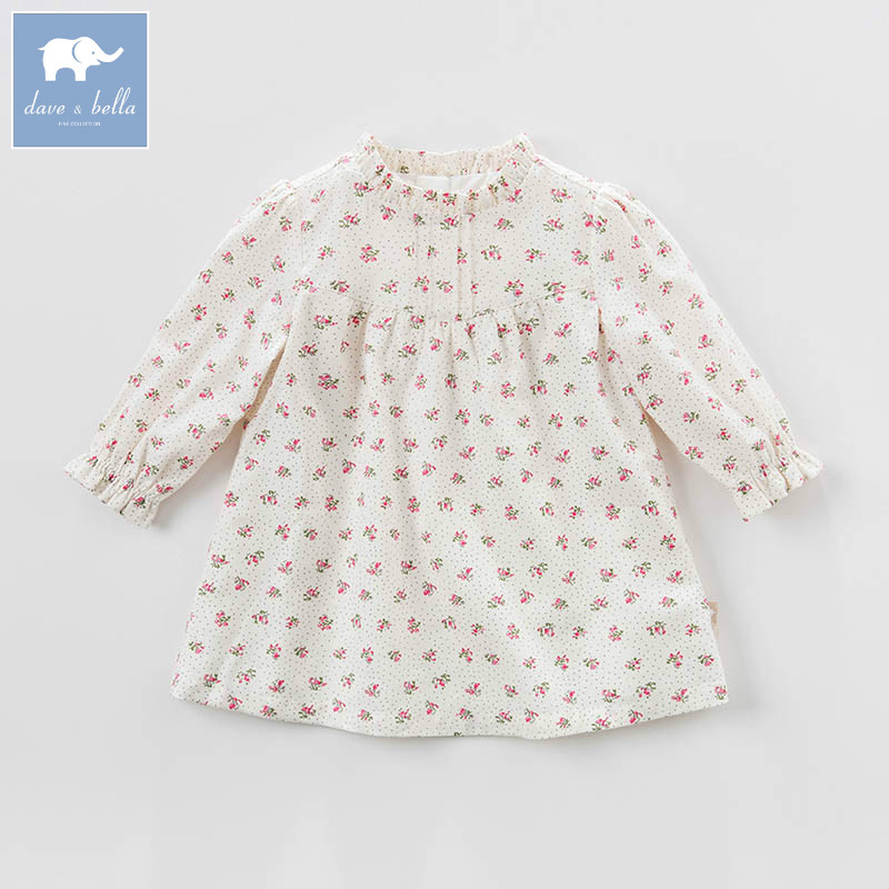 DB7360 dave bella spring infant baby girls princess dress fashion floral birthday party dress toddler children clothesDB7360 dave bella spring infant baby girls princess dress fashion floral birthday party dress toddler children clothes