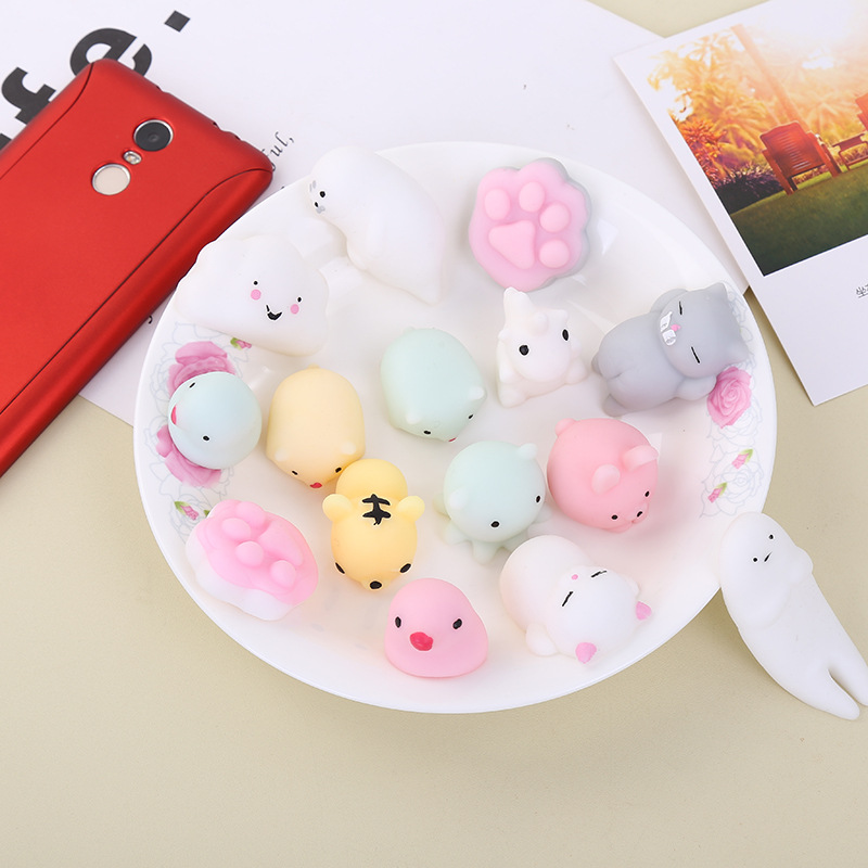 (10pcs/lots) Random Mini Cute Soft Squishy Slow Rising Toy Squeeze Stretchy Animal Seals Healing Toys