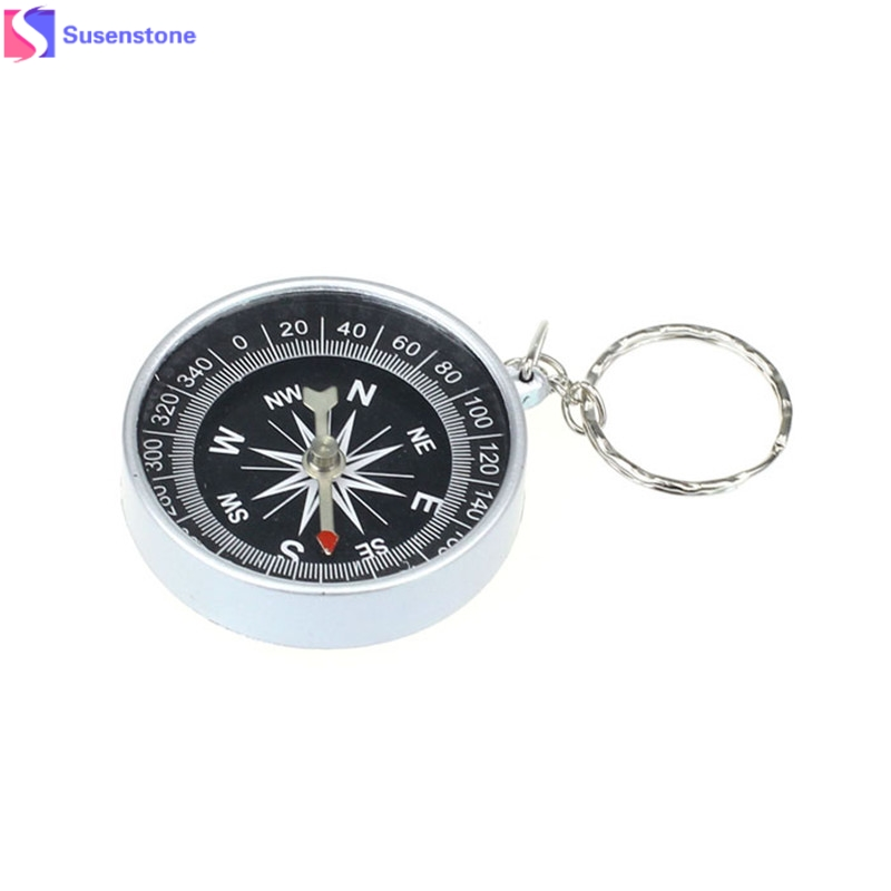 Брелок компас из серебра