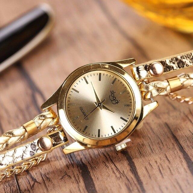 שעון קוורץ לאישה עם צמידים אופנתיים 2