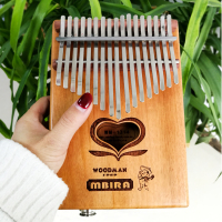 BATESMUSIC 17 Key Electricity Kalimba Goncalo Alvez African Thumb Piano Finger Percussion Keyboard Kids With EQ