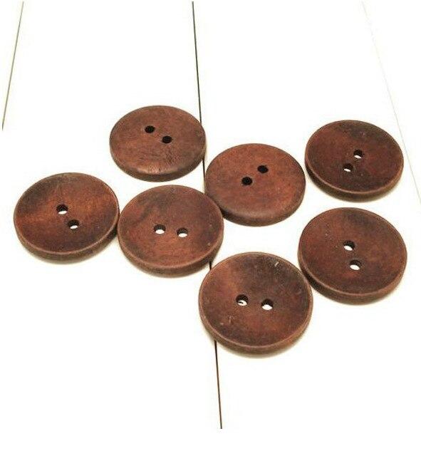 Оптовая продажа Бесплатная доставка 200 шт. 15 мм, 17.5 мм 2-отверстие деревянной кнопки коричневый цвет Швейные Кнопки индивидуальный дизайн др...
