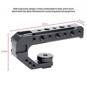 Image 2 - Aluminium DSLR Top Poignée Grip w 3 Froid Supports de Chaussures 1/4 3/8 pour Moniteur Microphone Vidéo Lumière à sony A6400 6300 Nikon Canon
