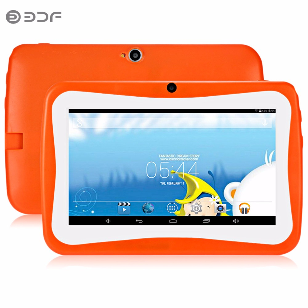 цена на 7 Inch Children's Tablet PC 8GB Flash Education Android 4.4 Quad core Nice Design Learning entertainment tablet Pc
