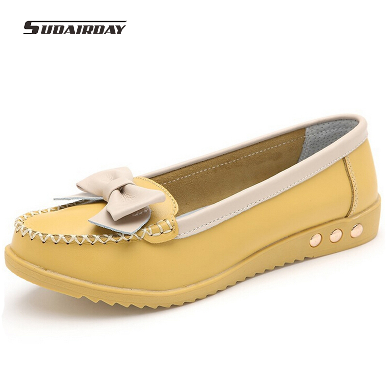Aliexpress.com  Buy 2016 Women Genuine Leather Ballet Flats Shoes Woman Spring/Autumn Flat ...