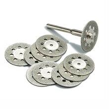 10 قطعة 22 ملليمتر الماس أدوات دريميل الملحقات أداة دوارة مجموعة الماس عجلة قطع القرص الماس طحن عجلة للزجاج
