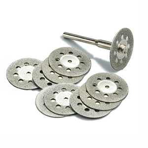 Image 1 - 10 pz 22mm utensili diamantati accessori Dremel Utensile Rotante set rotella di diamante di taglio a disco mola del diamante per il vetro