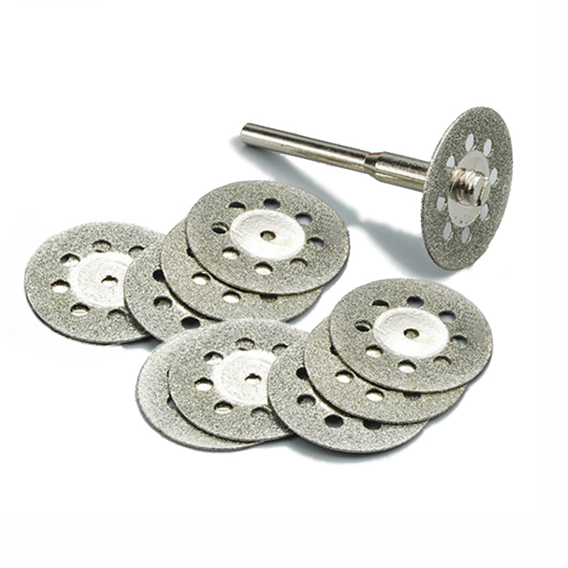 10pc 22mm Diamond Tools Dremel Rotary Tool Accessories Set Diamond Wheel Cutting Disc Diamond Grinding Wheel For Glass