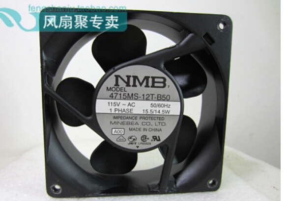 New original NMB 4715MS-12T-B50 AC115V 120*120*38MM dual ball inverter fan temperature new and original 12cm 4715kl 04w b50 12038 1 3a double row ball bearing cooling fan for nmb 120 120 38mm