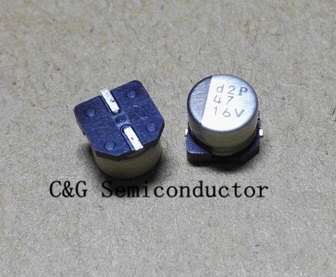 50 PCS 22UF//50V 6X5 mm SMD Aluminum Electrolytic Capacitor SMT 50V 22UF