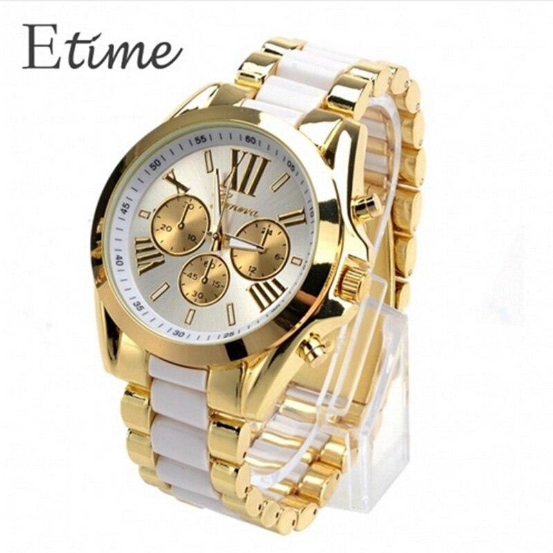 FANALA horloge Heren 2018 Geneva goud volledig staal analoge quartz heren bergkristal horloges Montre Homme horloge 2018 herenhorloge