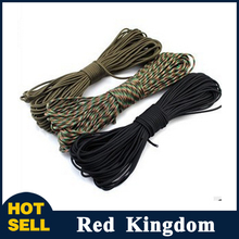 50ft New Paracord 550 Paracord Parachute Cord Lanyard Rope Mil Spec Type III 7 Strand Climbing Camping survival equipment