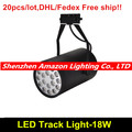 20pcs 18w LED track light spotlight Suspend mounted or ceiling LED track lighting for clothing shop jewel store showroom