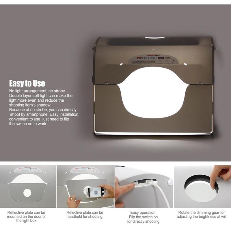 SANOTO K50 Softbox Photo Studio Caja fotográfica fotográfica con - Cámara y foto - foto 5