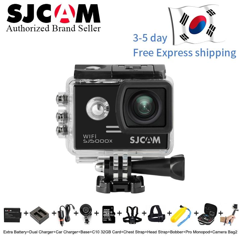 Original SJCAM SJ5000X Elite Gyro Sport caméra d'action WiFi 4 K 24fps 30fps 30 M étanche SJ CAM 5000x meilleurs Sports DV